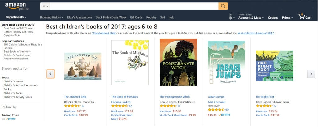 Amazon Best Books 2017 – Wheeler Studio