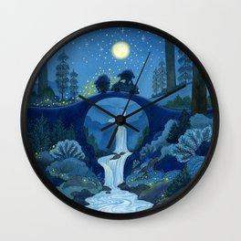 driving-through-the-glittering-night-wall-clocks